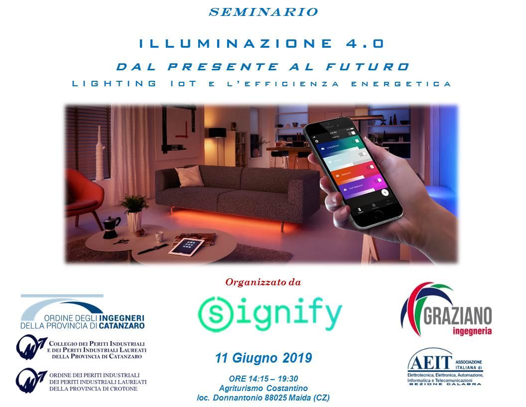 Seminario  ILLUMINAZIONE 4.0  DAL PRESENTE AL FUTURO