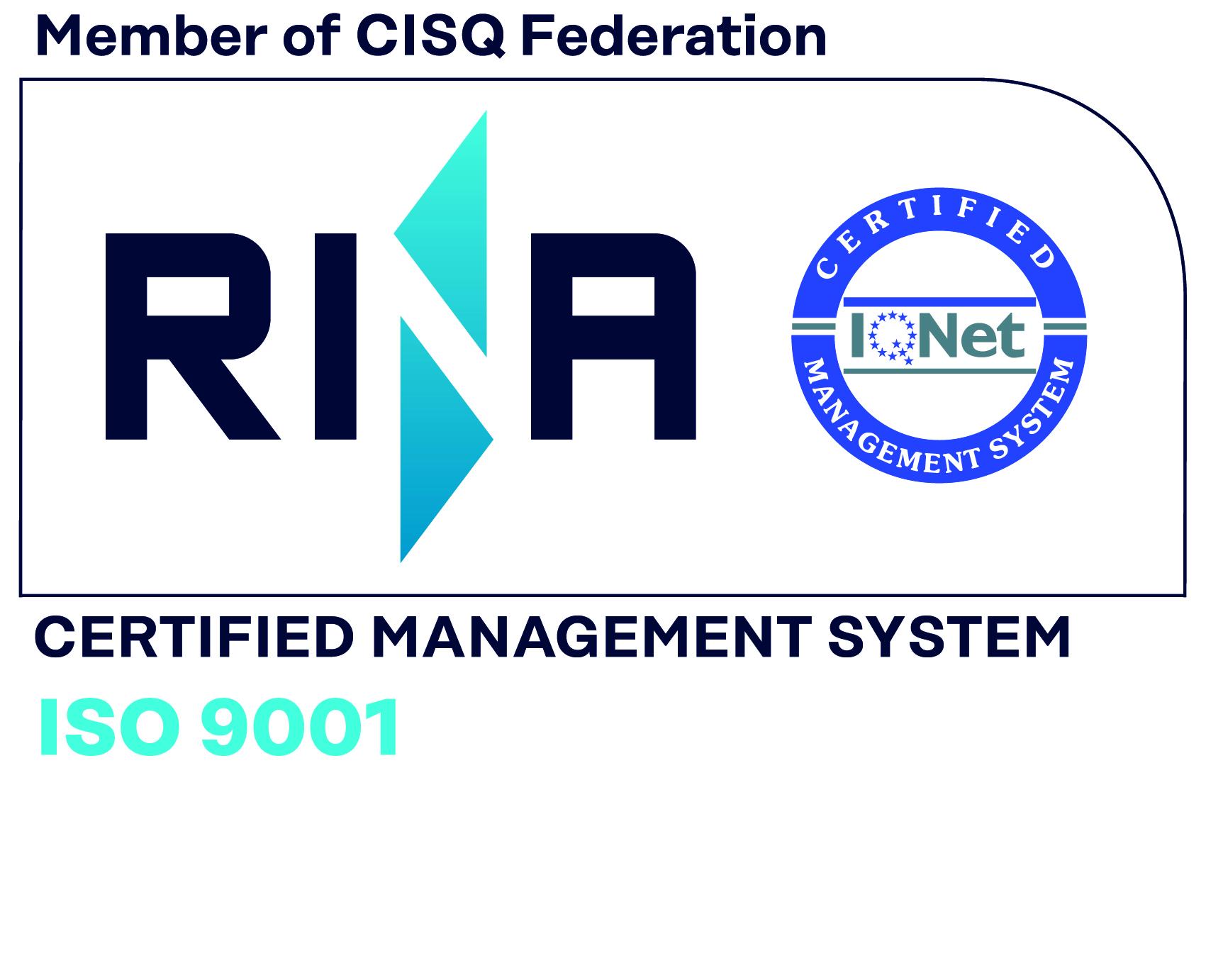 RINNOVATA LA CERTIFICAZIONE ISO 9001