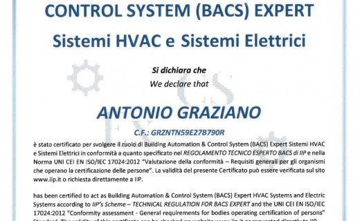 Certificazione Building Automation & Control System